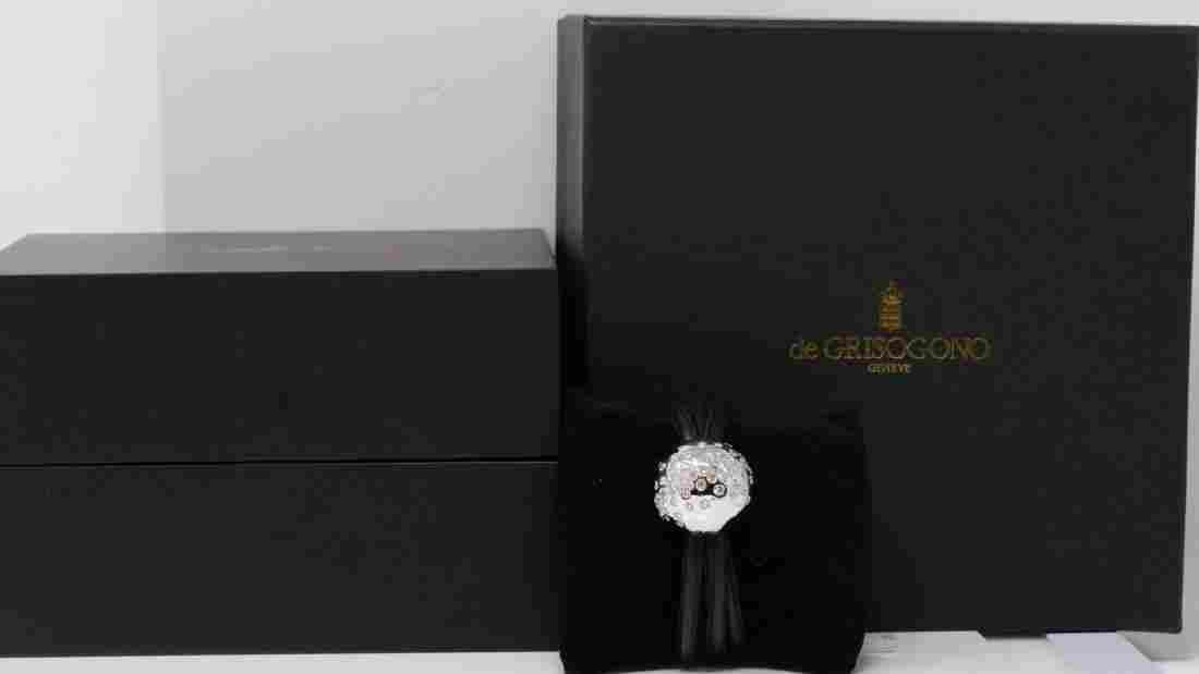de Grisogono 4.40ctw Diamond 18K Leather Bracelet