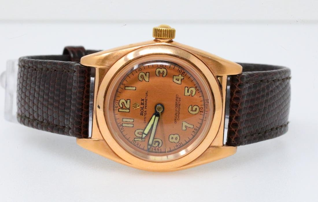 Rolex 1930's 18K Rose Gold Bubbleback