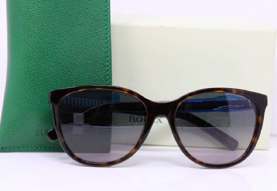Rolex Rare Tortoise Shell Wayfarer Sunglasses