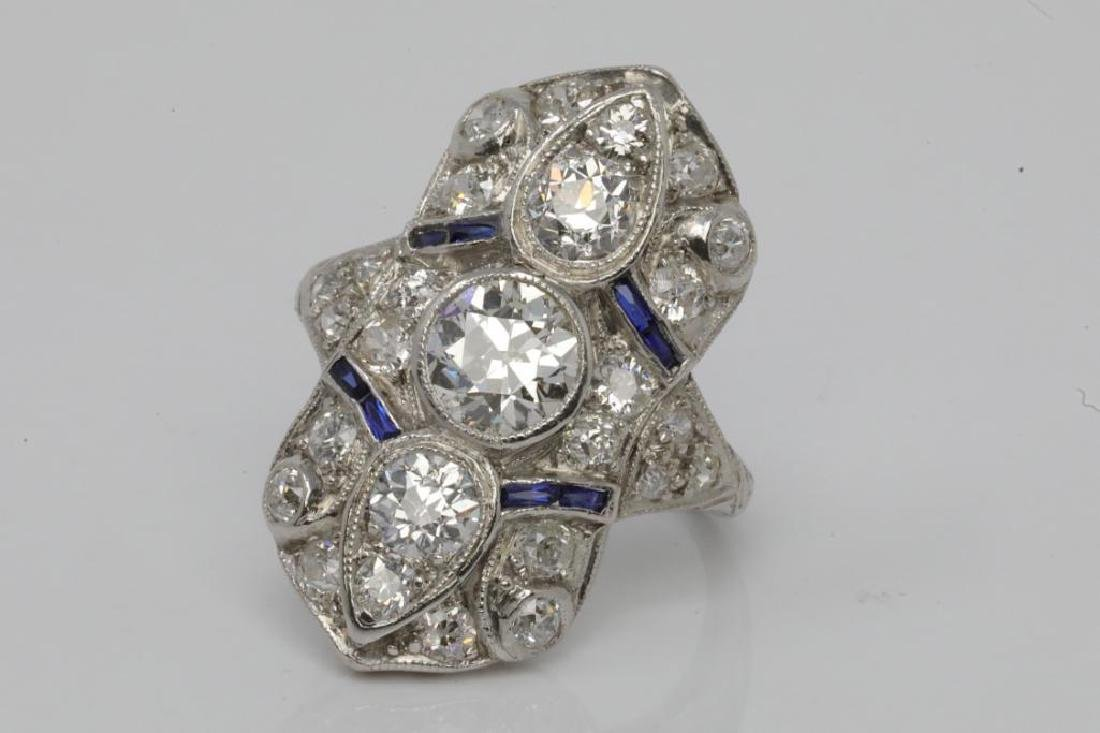 3.50ctw Diamond & Platinum Art Deco Ring