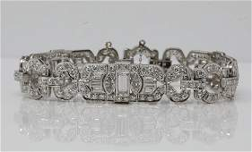 10.25ctw Diamond & Platinum Bracelet (3) 1ct