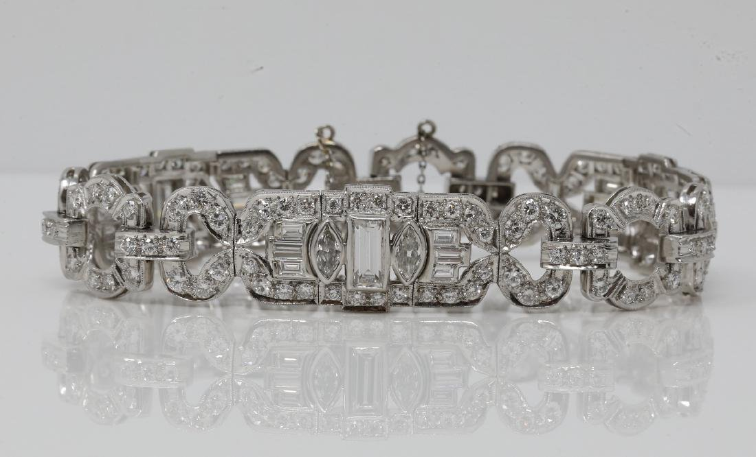 10.25ctw Diamond & Platinum Bracelet (3) 1ct