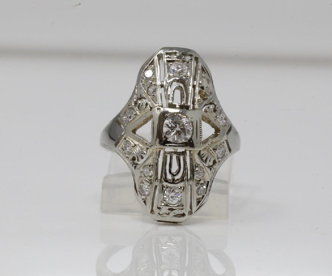 Art Deco .50ctw Old European Cut Diamond 14K Ring