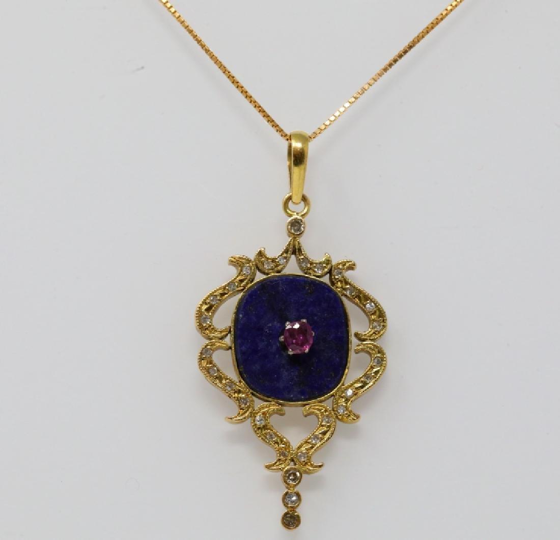 16mm Lapis 18K Necklace