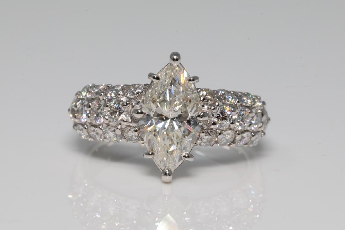 2.70ctw VS2-SI1/G-H Diamond & Platinum Ring