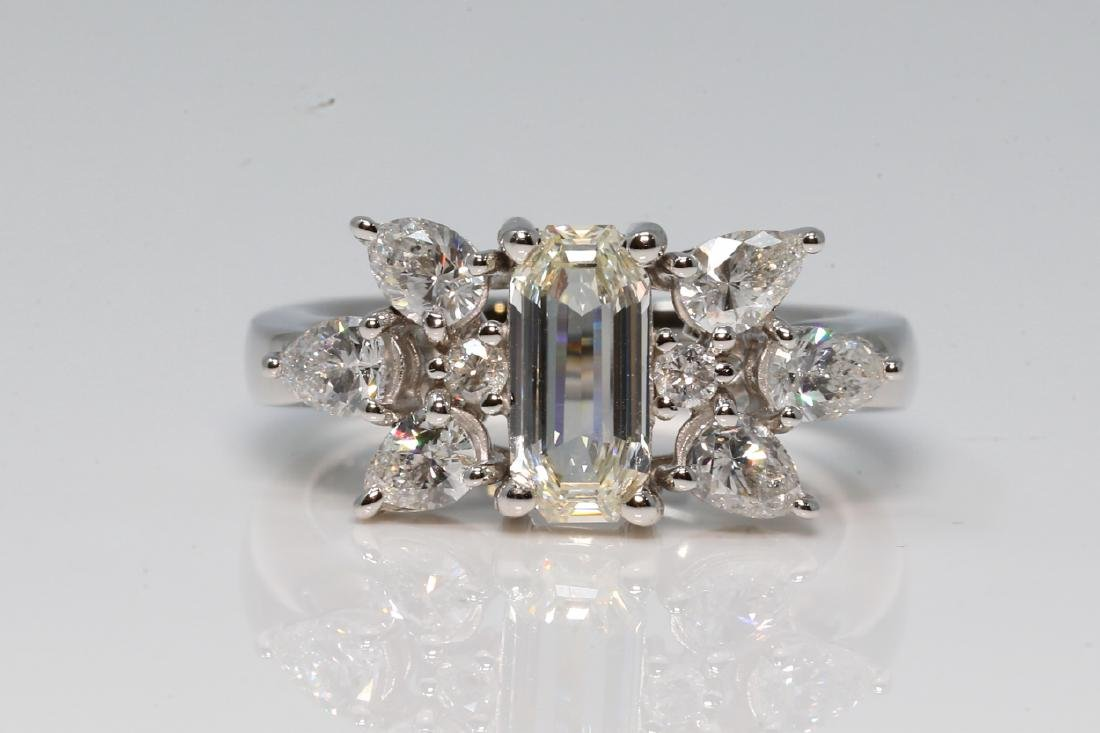 2.10ctw VS1-VS2/G-H Diamond & Platinum Ring