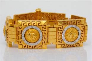 1.00ctw VS1-VS2/G-H Diamond & 22K Medusa Bracelet