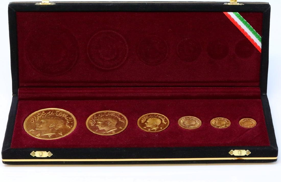 Iranian Reza Pahlavi (6) Solid 90% Gold Coin Set