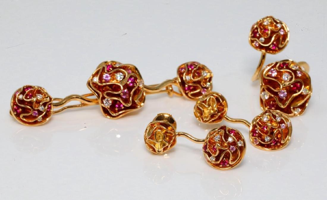 Louis Vuitton 18K Hair Barrette, Ring & Earrings