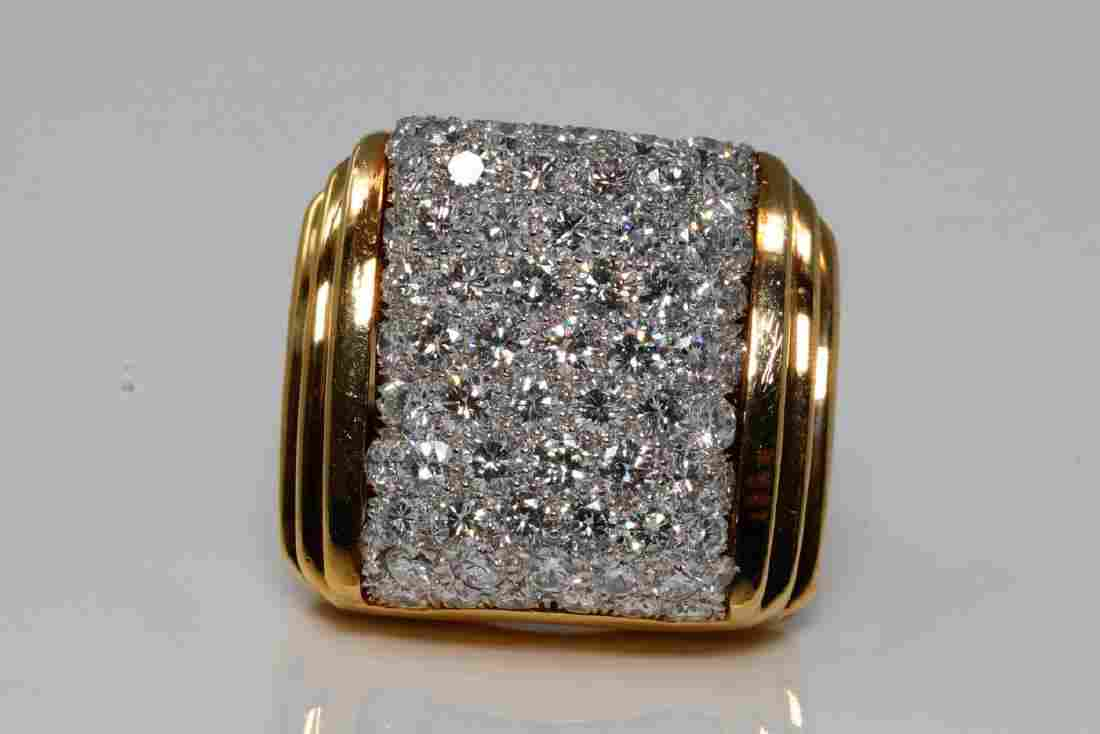 David Webb 5.50ctw VVS2-VS1/F-G Diamond 18K Ring