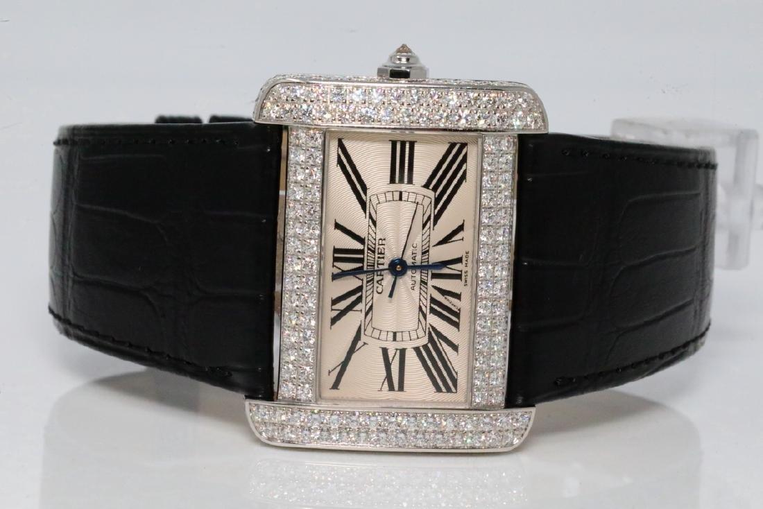 Cartier Tank Divan 4.00ctw Diamond 18K Watch