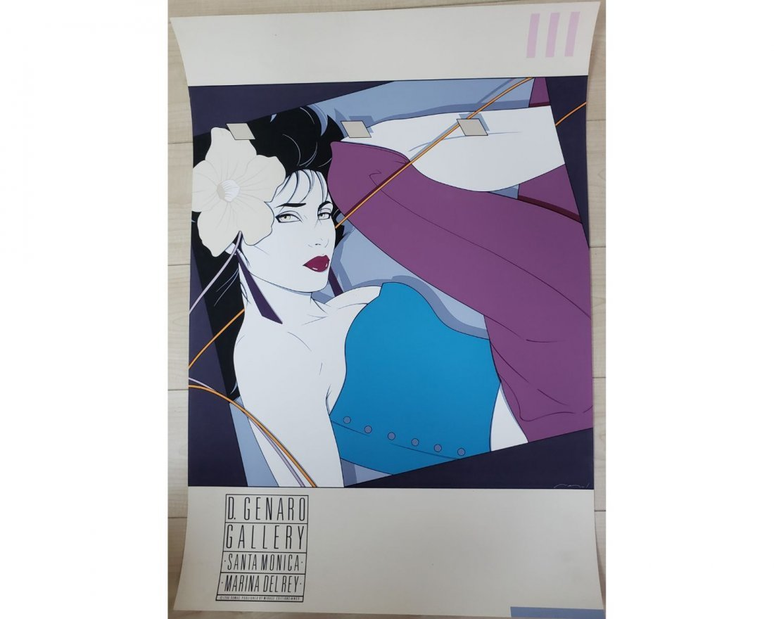 Patrick Nagel Rare 1980s Exhibition Poster