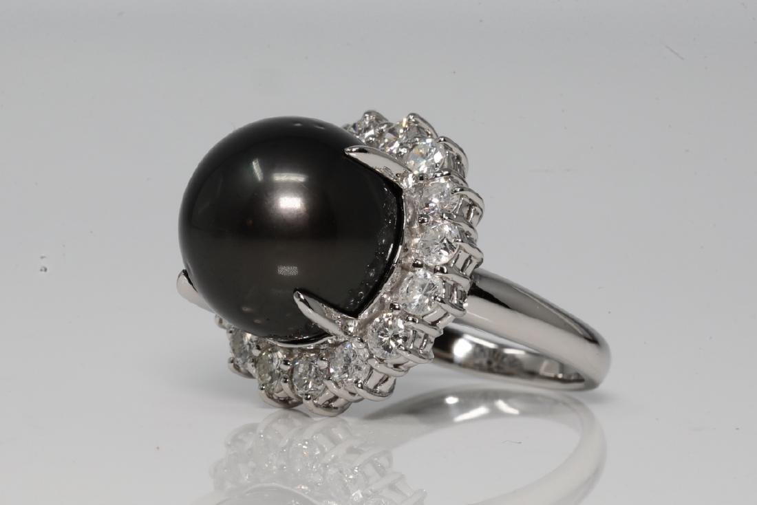 14.5mm South Sea Pearl & 1.65ctw Diamond Ring