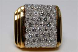 David Webb 550ctw VVS2VS1FG Diamond 18K Ring