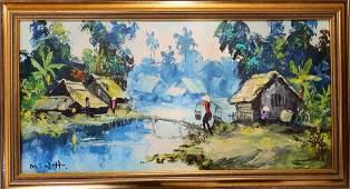 To Minh Vietnamese 1970s Original Oil Painting