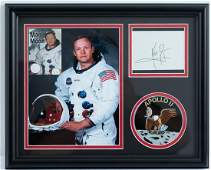 Neil Armstrong Signature Display WStrand of Hair
