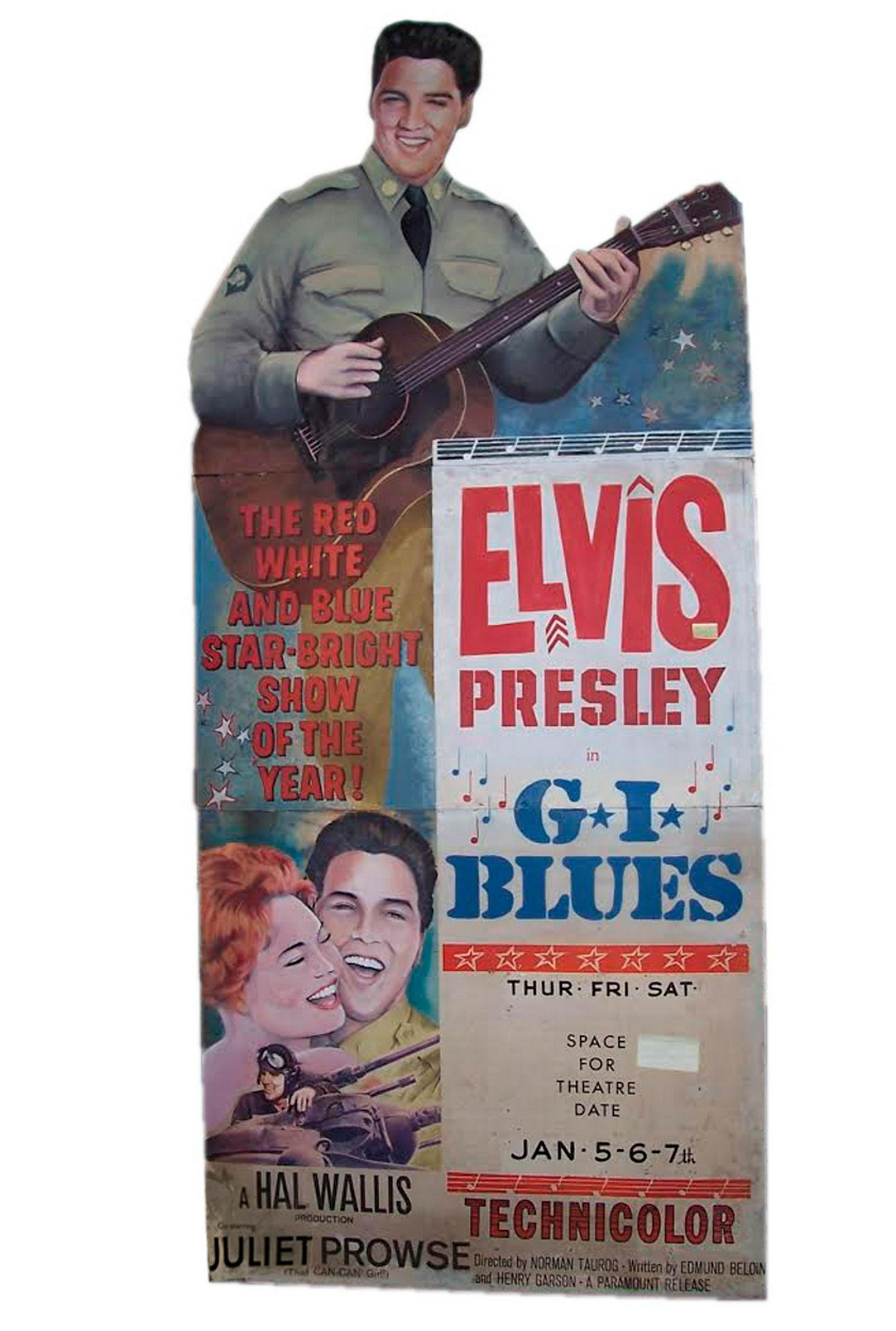 Elvis Presley G.I. Blues 1960 9 Ft. Theater Standee