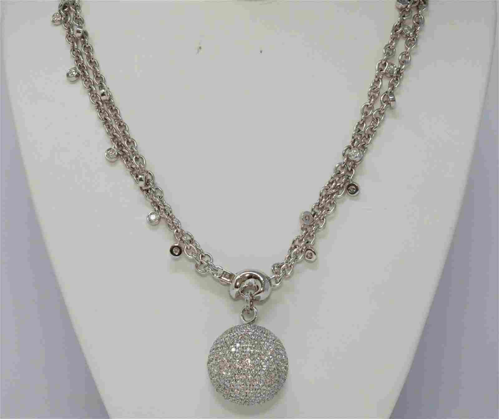 de Grisogono Boule 21.50ctw Diamond 18K Necklace