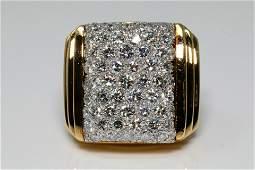 David Webb 550ctw Diamond  18KPlatinum Ring