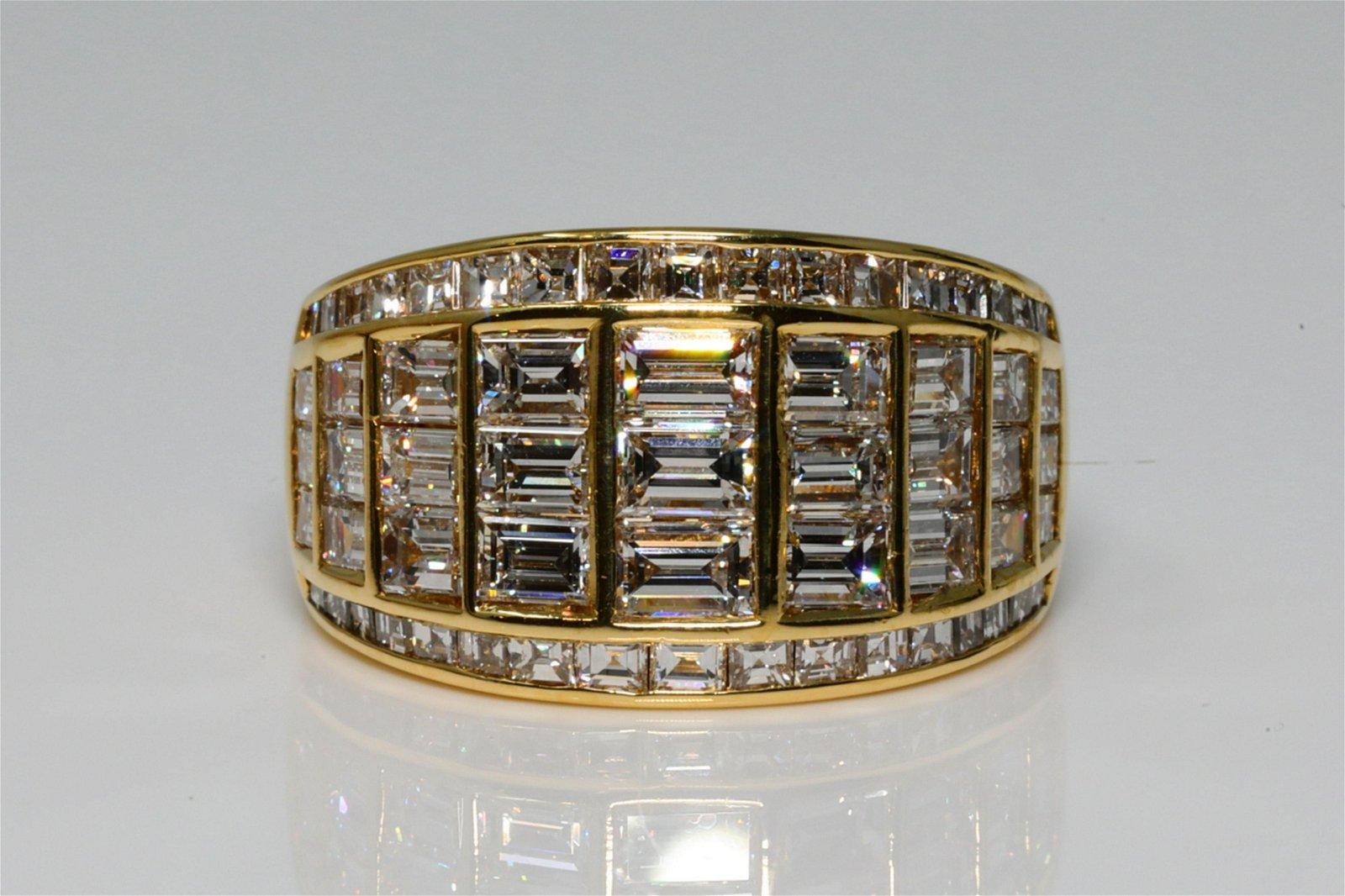 Graff 3 25ctw VVS2-VS1/E-F Diamond & 18K Ring
