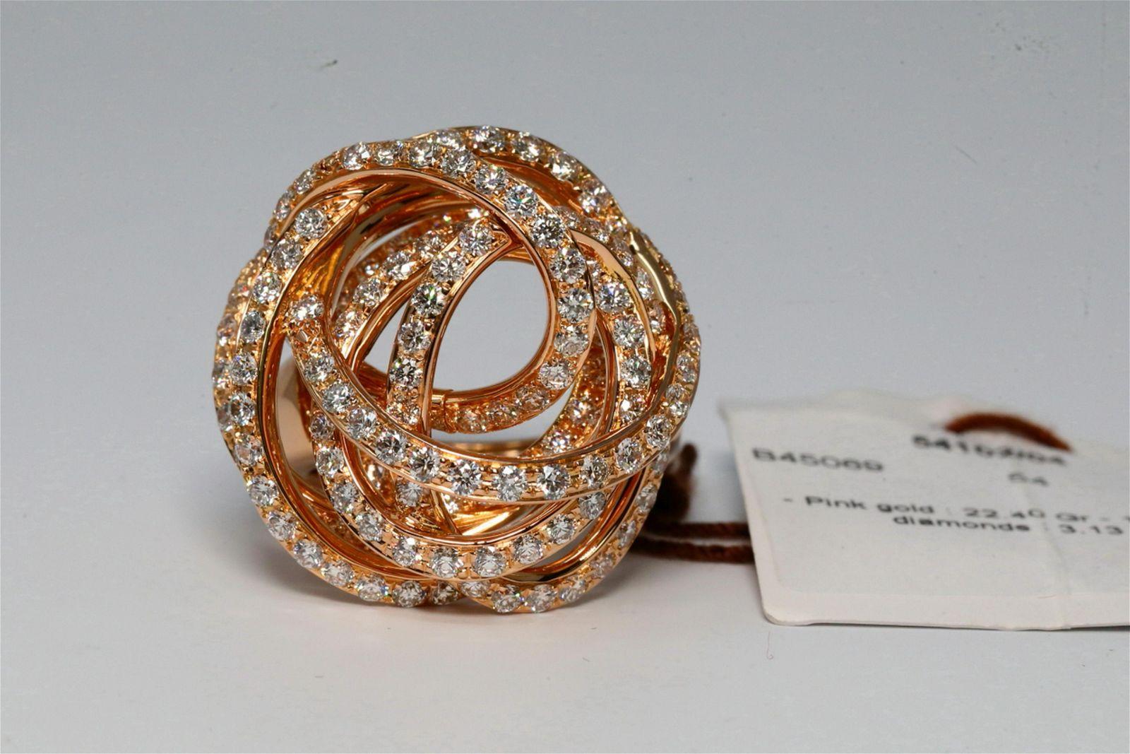 De Grisogono Matassa 3.13ctw Diamond & 18K Ring