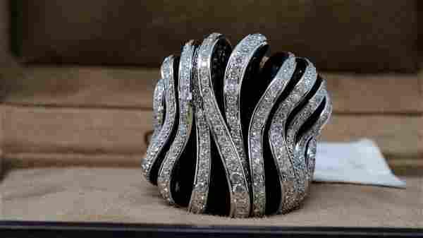 de Grisogono Onde 5.26ctw Diamond 18K Ring W/COA