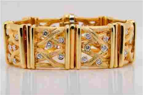 Henry Dunay 3ctw VVS1-VVS2/F-G Diamond 18K Bracelet