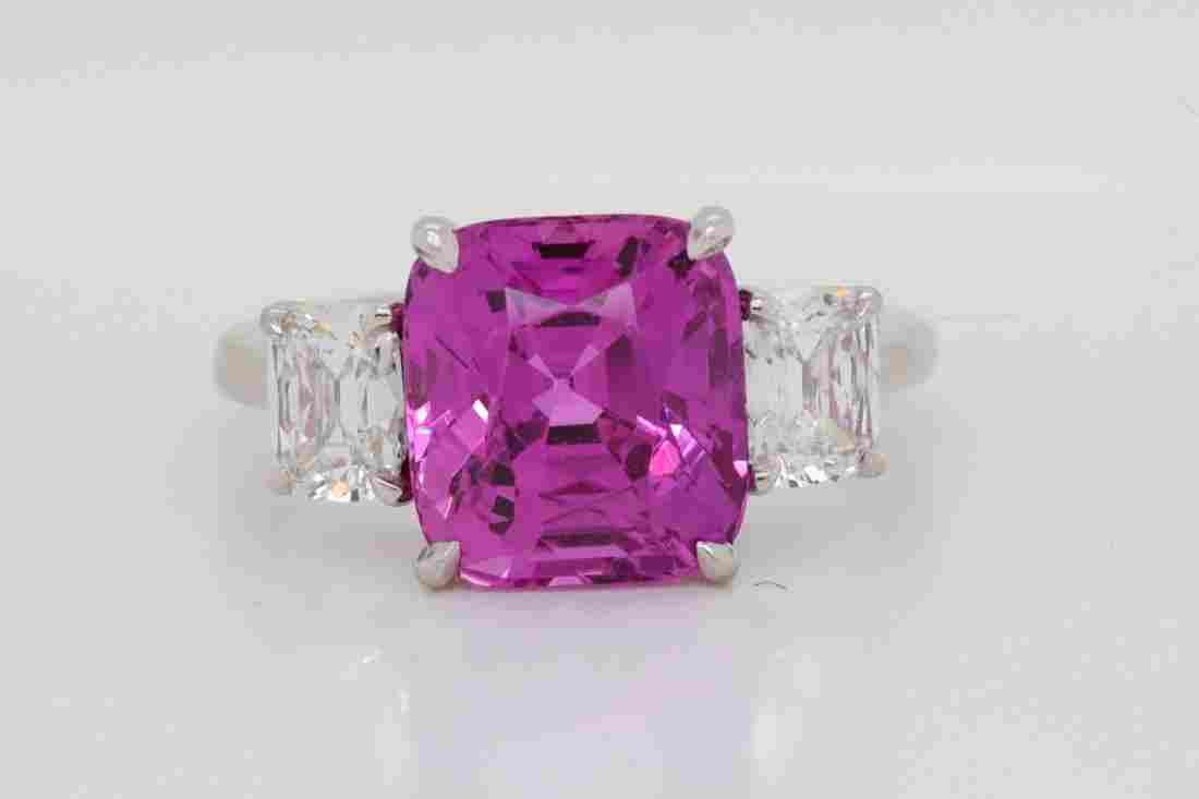 Cartier 6.72ct Pink Sapphire & 1.02ctw Diamond Ring