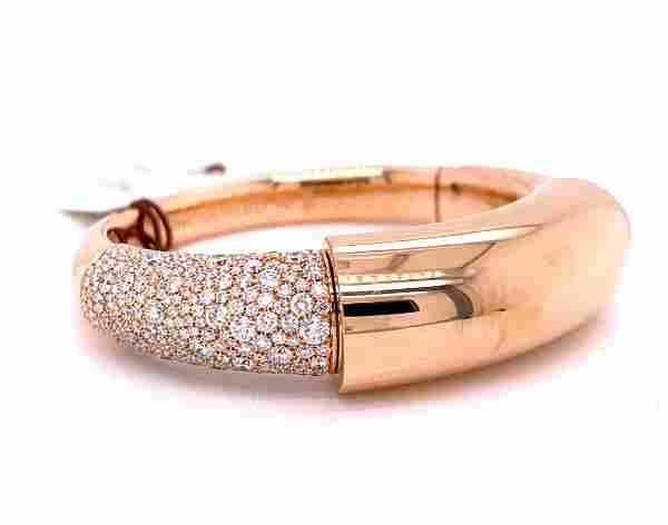de Grisogono 4.05ctw Diamond & 18K Bangle W/COA