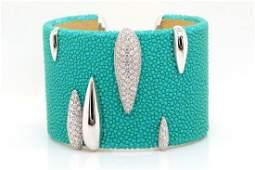 de Grisogono 2.07ctw Diamond, Galuchat 18K Bracelet