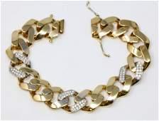 1.00ctw SI1-SI2/G-H Diamond & 18K Bracelet