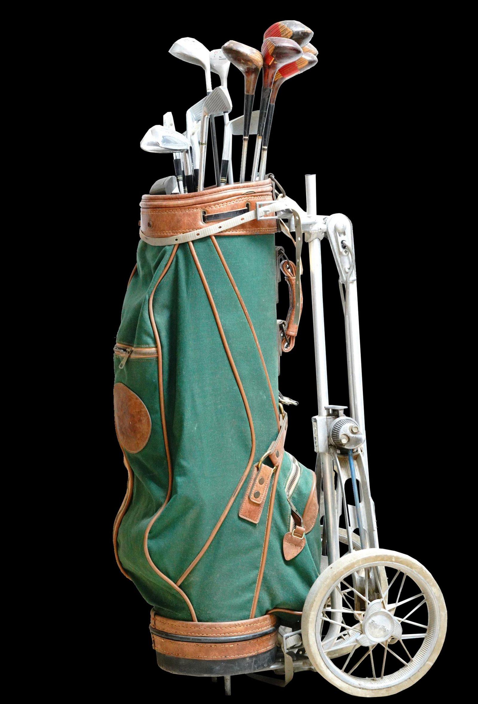 Gene Roddenberry's Golf Clubs, Bag, Pull Cart