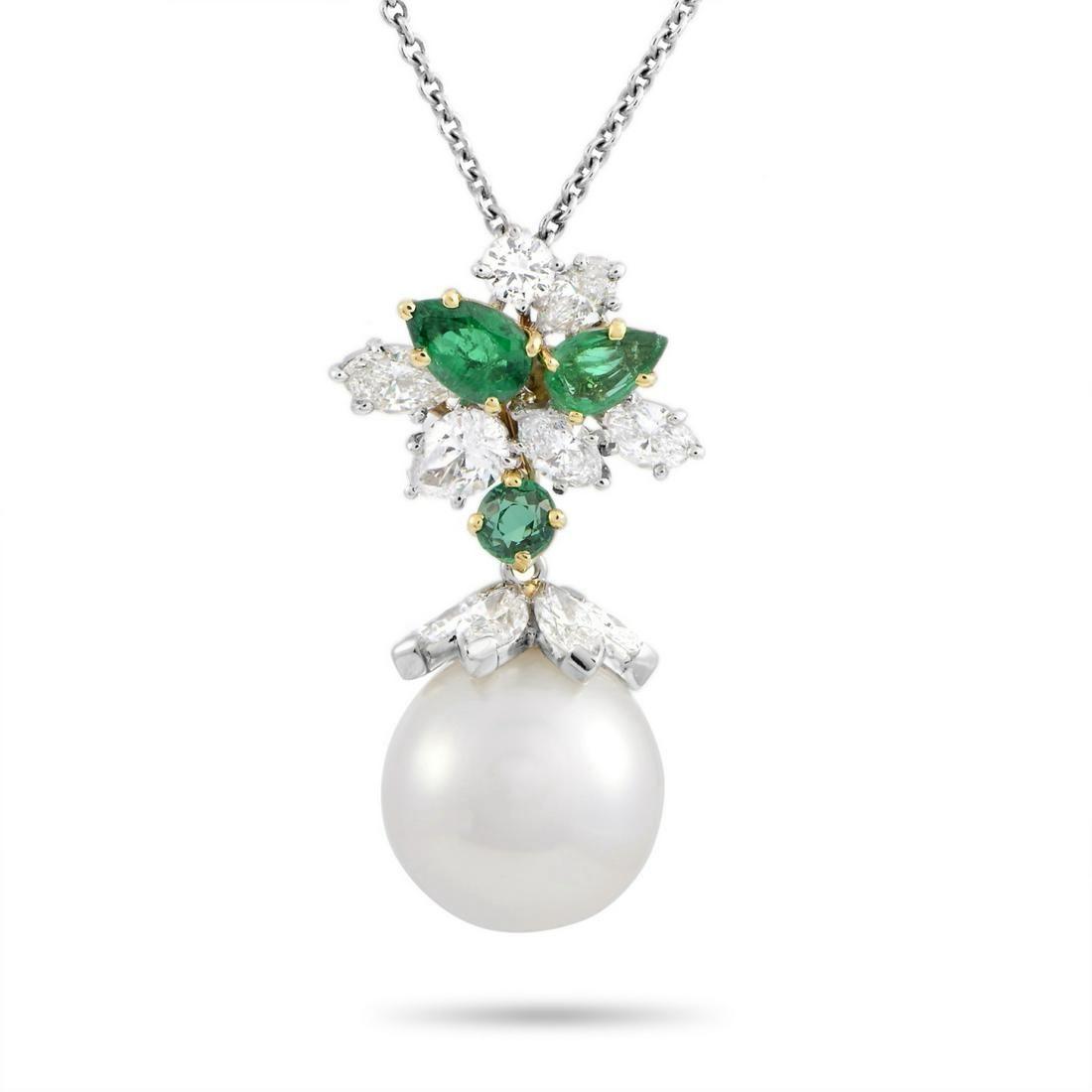 Harry Winston Pearl & 2.25ctw Diamond Necklace