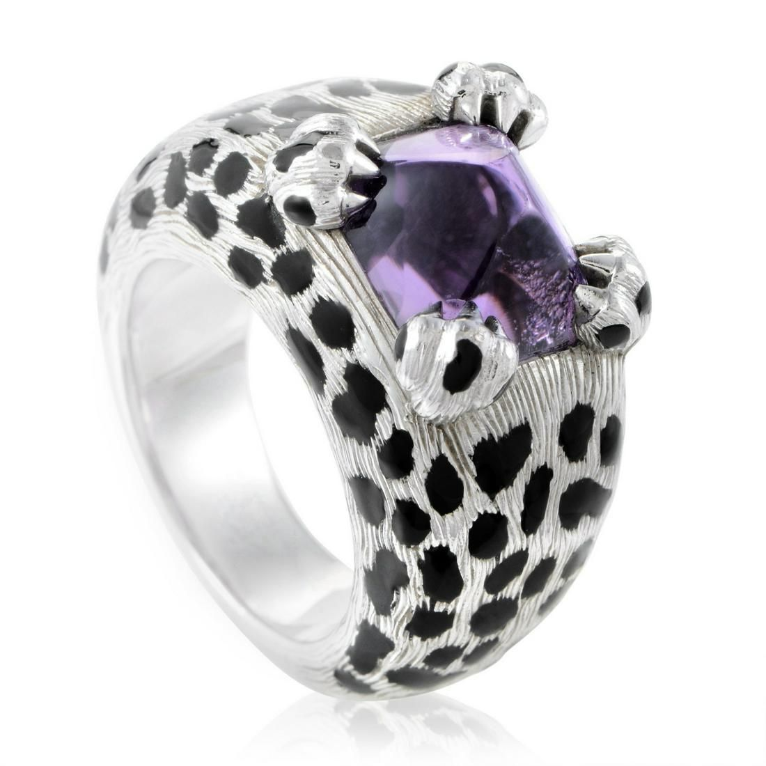 Dior Mitza Amethyst, Black Lacquer & 18K Ring