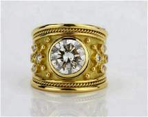 Elizabeth Gage 401ct SI1GH Diamond  Solid 18K