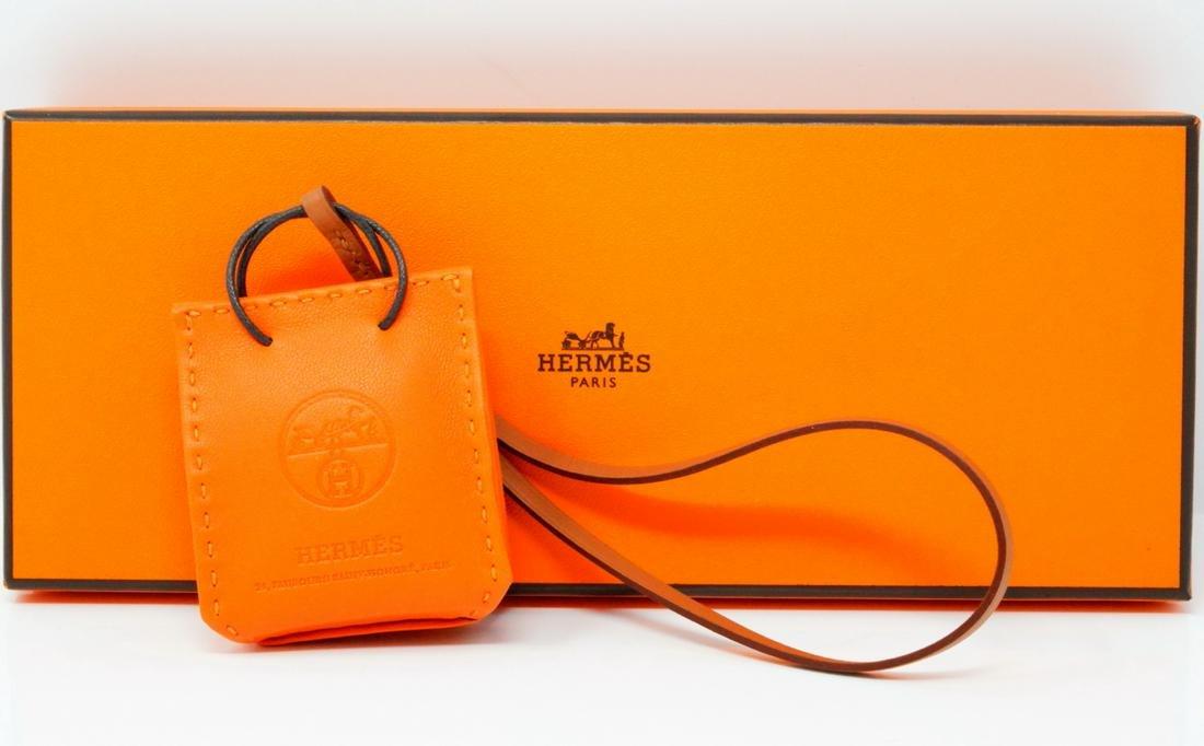 Hermes Rare Orange Swift Leather Handbag Charm