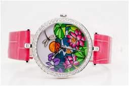 Van Cleef & Arpels Diamond, Enamel 18K Watch #4/22