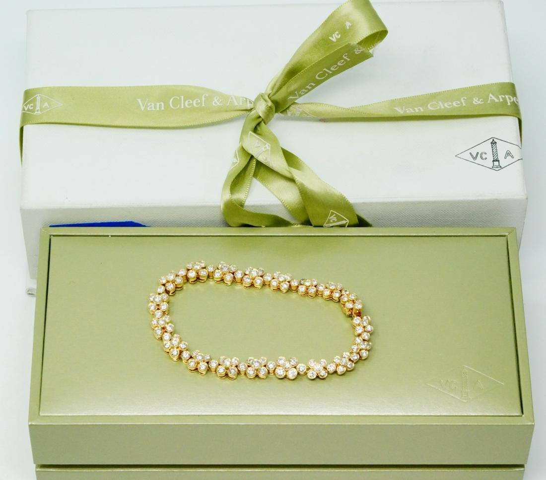 Van Cleef & Arpels 7.50ctw Diamond 18K Bracelet