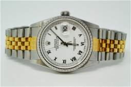 Rolex 1991 Oyster Perpetual Datejust 18KSS Watch