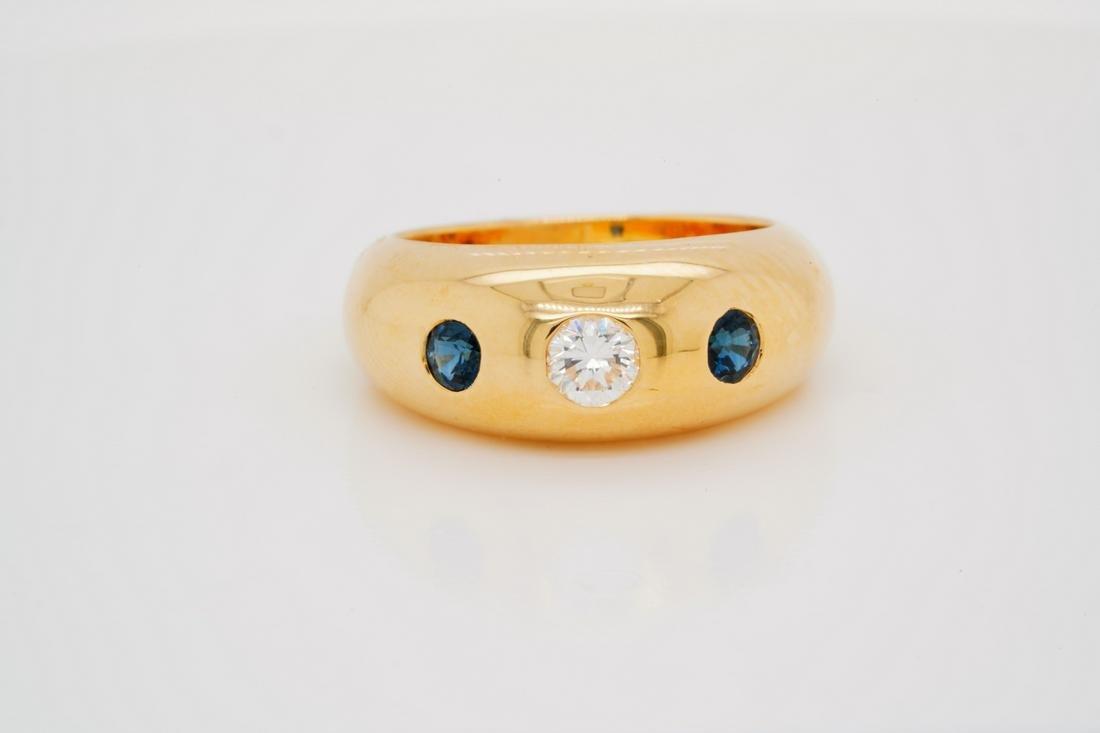 Cartier Daphne 0.40ctw Diamond & Ruby 18K Ring