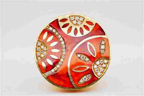 La Nouvelle Bague 0.50ctw Diamond, Enamel 18K Ring