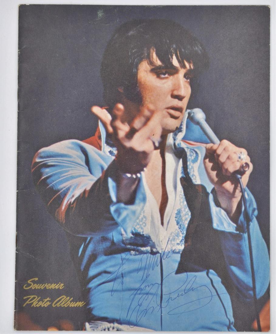 Elvis Presley Signed Souvenir Photo Album