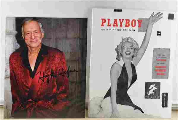 "Hugh Hefner Signed 8""x10"" Photo W/Playboy 1st Issue"