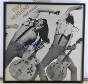 """Ted Nugent Signed """"Free-For-All"""" Album Cover W/COA"""