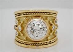 Elizabeth Gage 401ct SI1GH Diamond  18K Ring