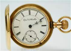 Elgin 1894 BW Raymond 15J Pocket Watch W/14K Case