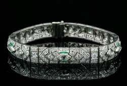 8.50ctw VS1-VS2/G-H Diamond & Platinum Bracelet