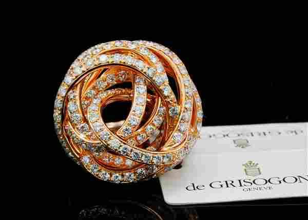 de Grisogono 3.13ctw Diamond 18K Matassa Ring
