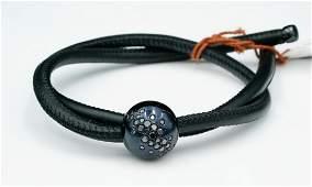 de Grisogono 0.65ctw Diamond, 18K & Leather Bracelet
