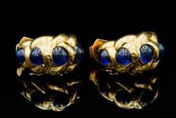 Van Cleef & Arpels 5.00ctw Blue Sapphire 18K Earrings